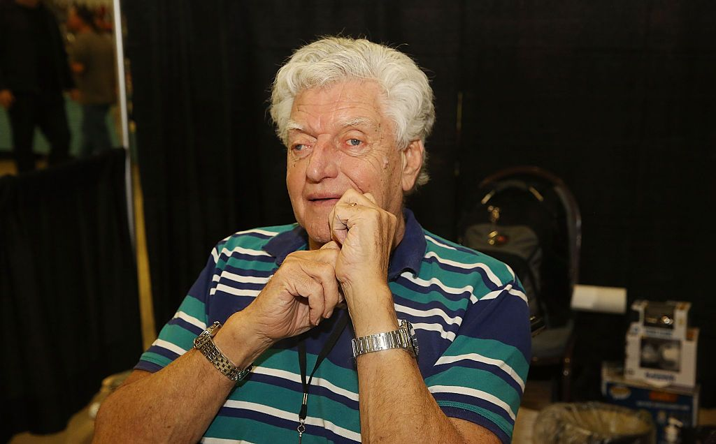 British actor David Prowse, the man behind the mask of Darth Vader, at the Magic City Comic Con in Miami, Florida | Photo: Aaron Davidson/WireImage