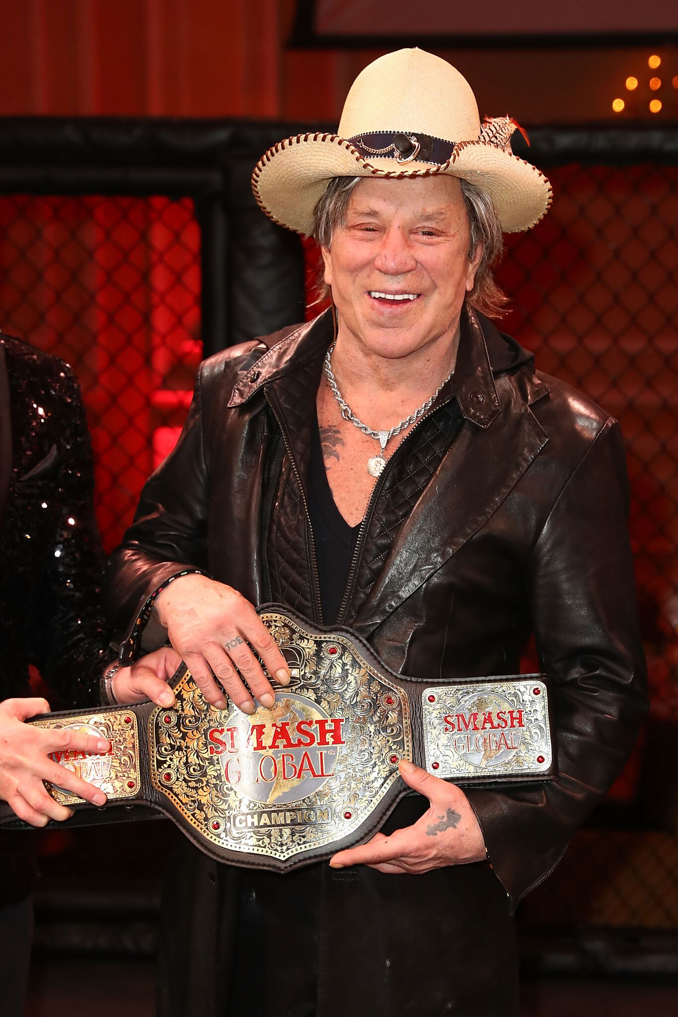 Mickey Rourke poses for a photo at SMASH Global VIII ñ Night Of Champions at Taglyan Cultural Complex | Getty Images / Global Images