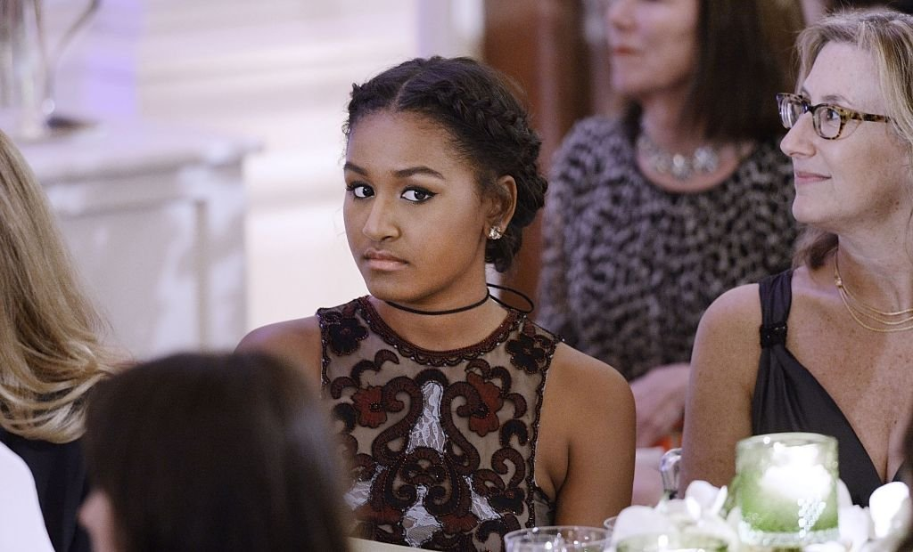 Sasha Obama attends a State Dinner at the White House in Washington, D.C. | Photo: Getty Images