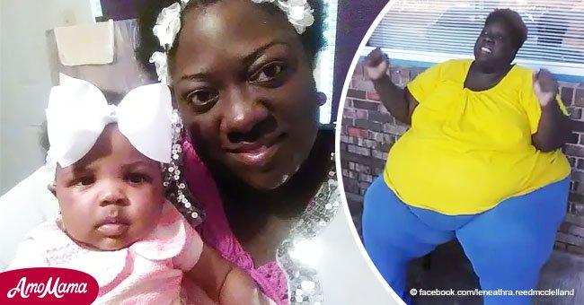 Heroica mujer con problemas respiratorios intenta perder 200 kilos para ver crecer a su hija