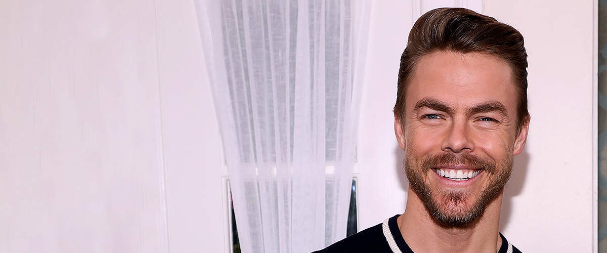 Derek Hough Kisses Longtime Girlfriend While Attending a 'Save the Children' Event