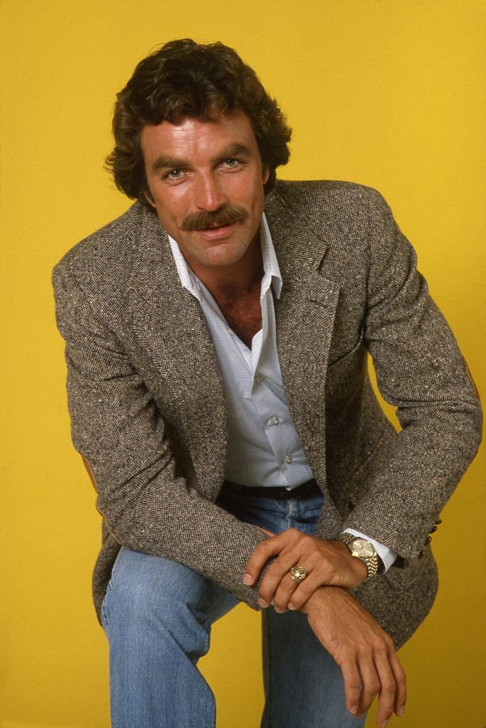 A portrait of Tom Selleck from the 1980s.   Photo: Getty Images