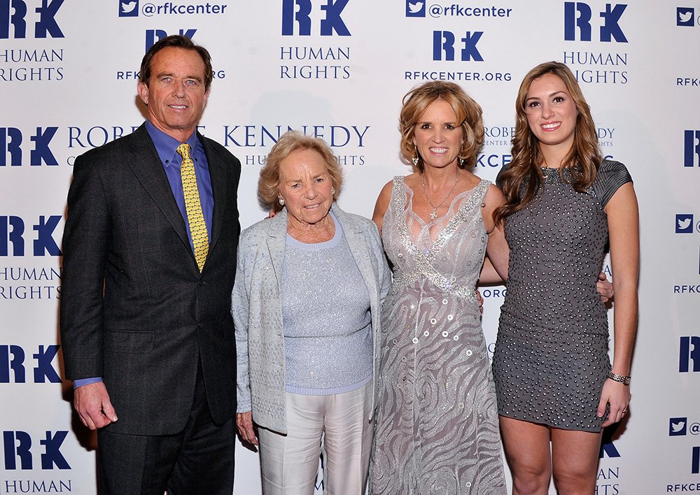 Robert F. Kennedy Jr., Ethel Kennedy, Kerry Kennedy, and Mariah Kennedy Cuomo attend Robert F. Kennedy Center For Justice And Human Rights 2013 Ripple Of Hope Awards Dinner at New York Hilton Midtown on December 11, 2013 in New York City. I Image: Getty Images.