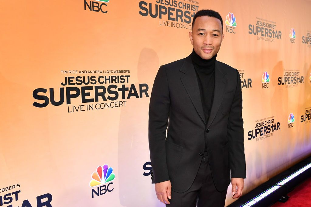 """John Legend at NBC's """"Jesus Christ Superstar"""" press junket at the Church of St. Paul the Apostle on February 27, 2018 in New York City 
