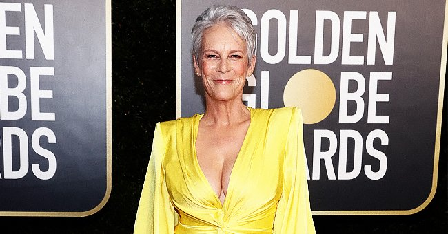 Jamie Lee Curtis Stuns at the 2021 Golden Globes Rocking a Plunging Yellow Gown