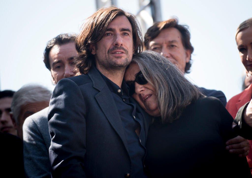 Gelete Nieto y Josefa Aguilar en el funeral de Ángel Nieto.| Fuente: Getty Images