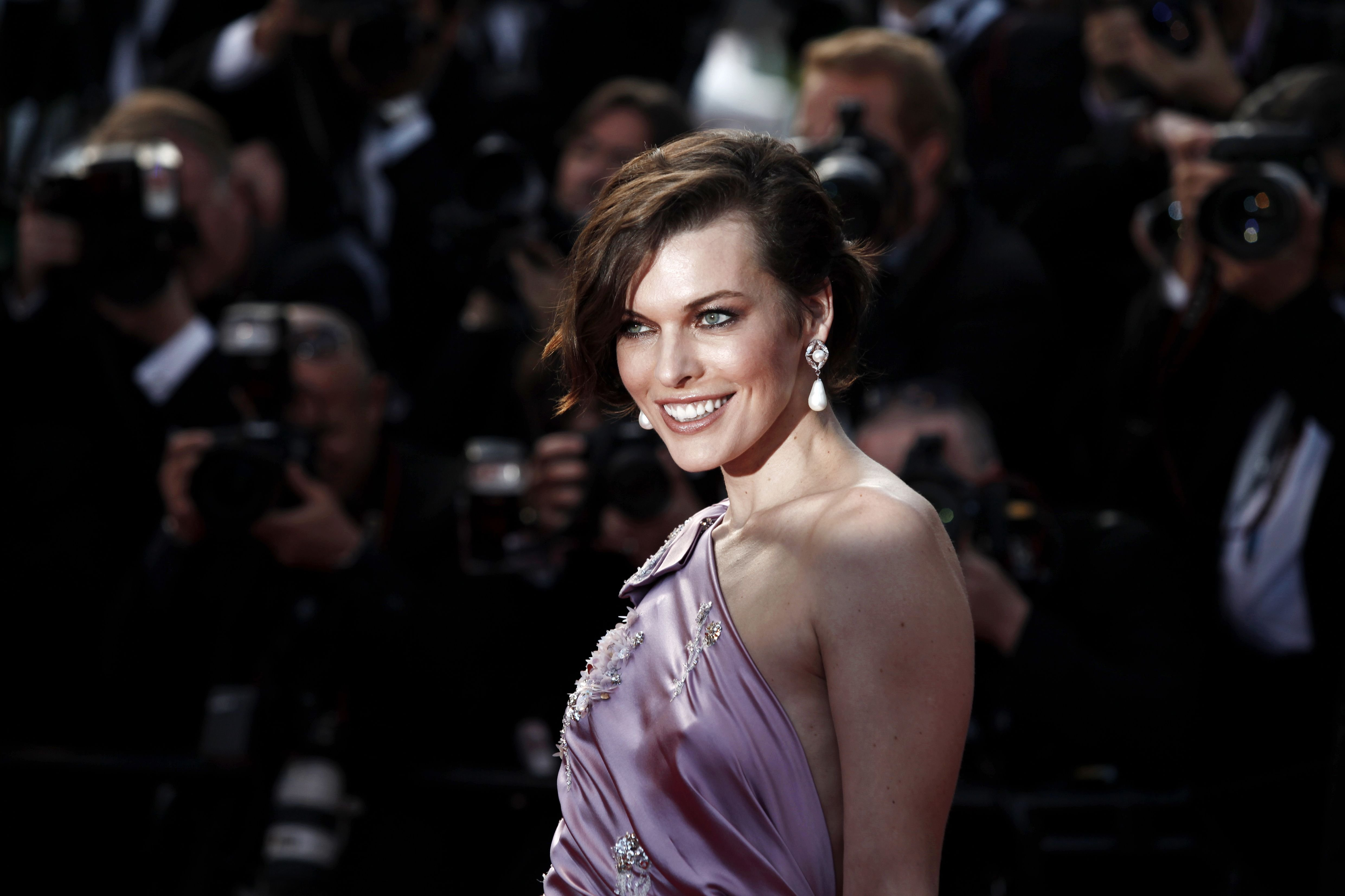 Milla Jovovich attends the 'On The Road' Premiere during the 65th Cannes Film Festival. | Source: Shutterstock