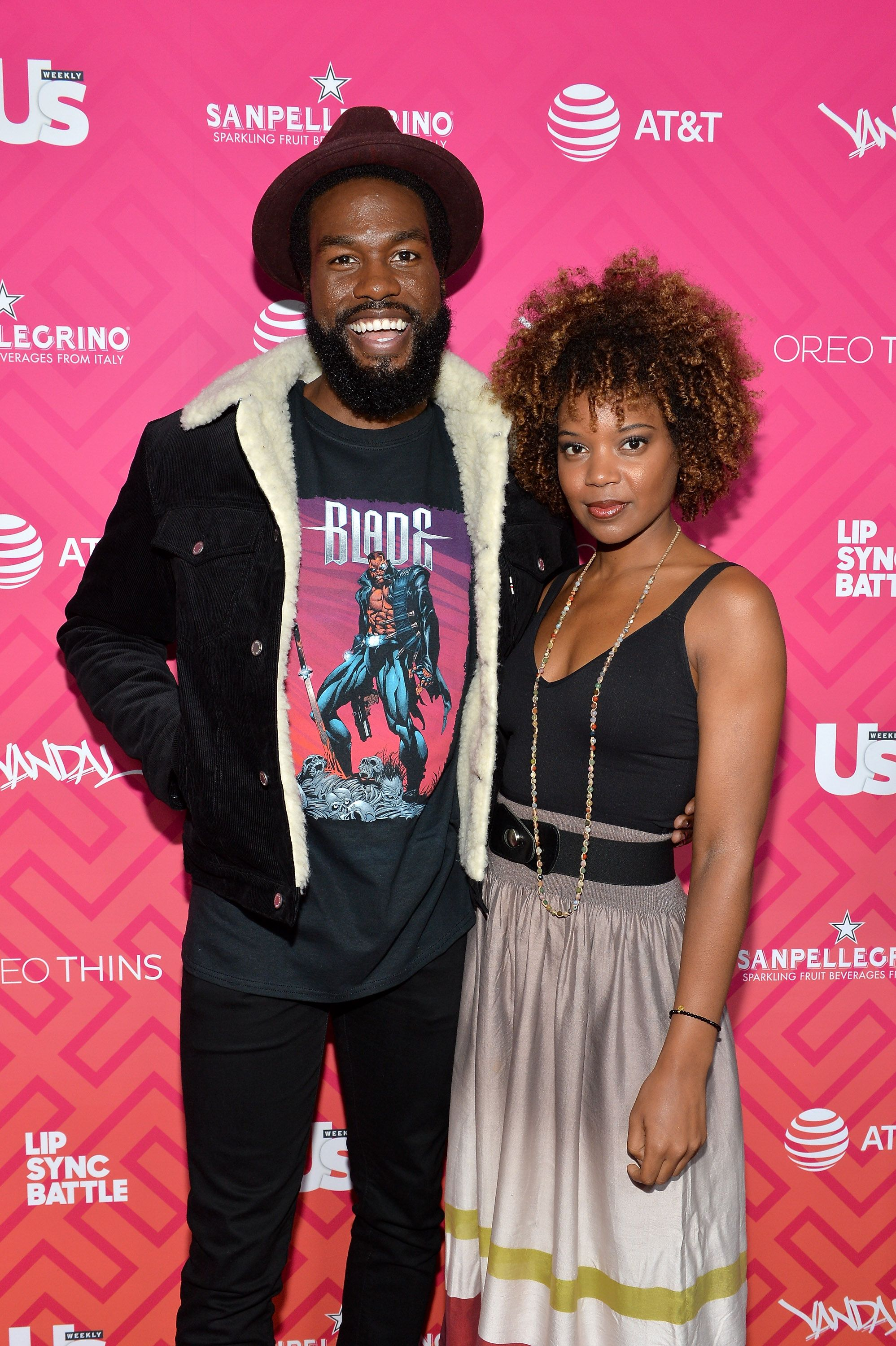 Yahya Abdul-Mateen and Chasten Harmon at the Us Weekly's Most Stylish New Yorkers 2016 in New York City   Source: Getty Images