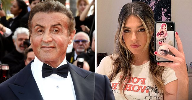 Sylvester Stallone's Daughter Sistine Is All Grown-up Wearing White T-Shirt in Her New Selfies