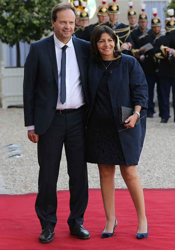 Anne Hidalgo et son époux Jean-Marc Germain en juin 2015 à Paris. Photo : Getty Images