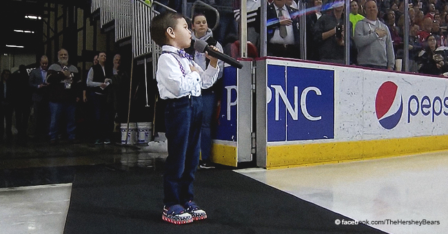 4-Year-Old Earned Standing Ovation for His Adorable Singing of the National Anthem