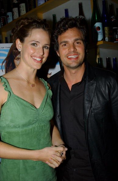 """Jennifer Garner and Mark Ruffalo at Nobu after a screening of their movie """"13 Going on 30"""" in 2004. 
