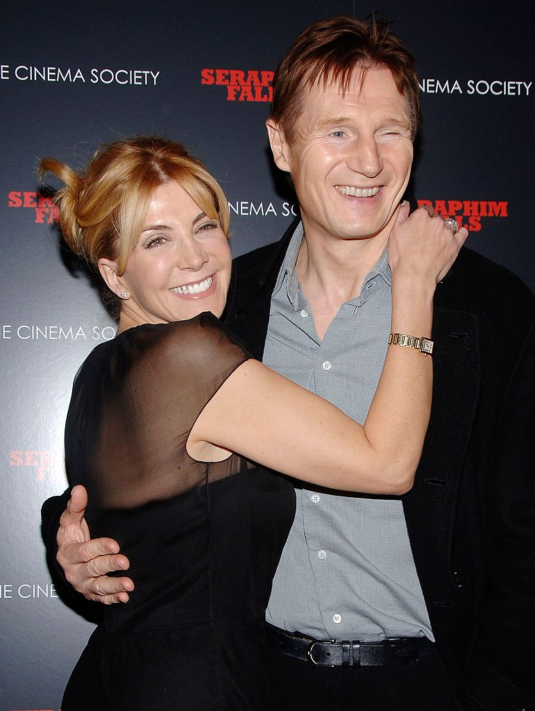 """Natasha Richardson and Liam Neeson attend a special screening of """"Seraphim Falls"""" hosted by The Cinema Society at the Tribeca Grand Hotel on January 23, 2007. 