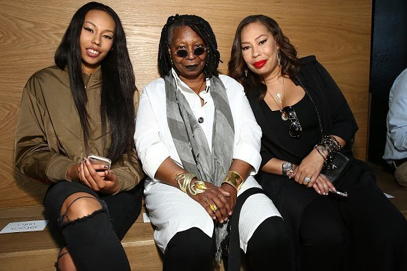 Jerzey Dean, Whoopi Goldberg and Alex Martin attend the Gypsy Sport fashion show during New York Fashion Week | Photo: Getty Images