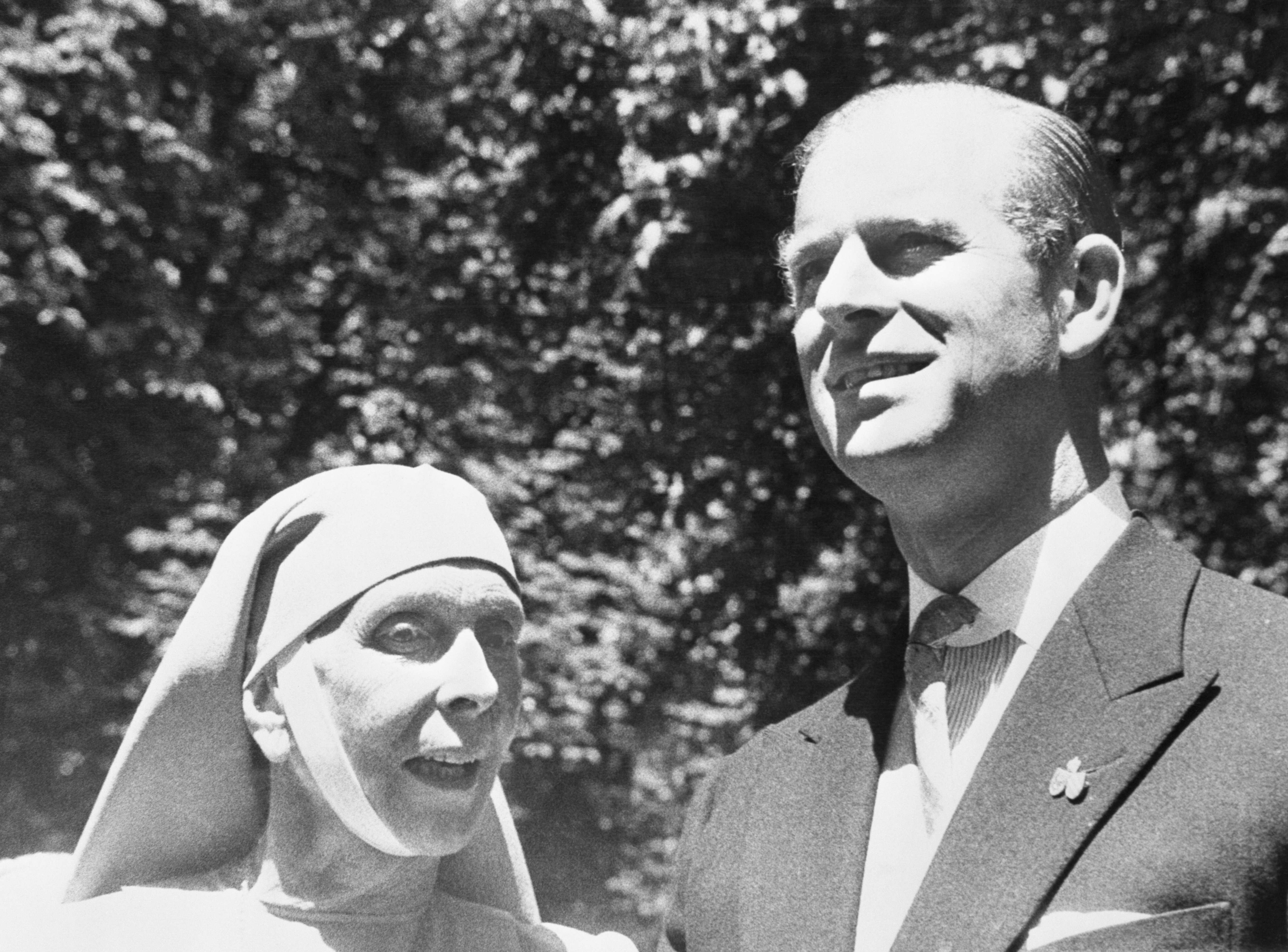 Prince Philip, Duke of Edinburgh, husband of Britain's Queen Elizabeth II, is shown in a reunion with his mother, Princess Alice of Greece.   Photo: Getty Images