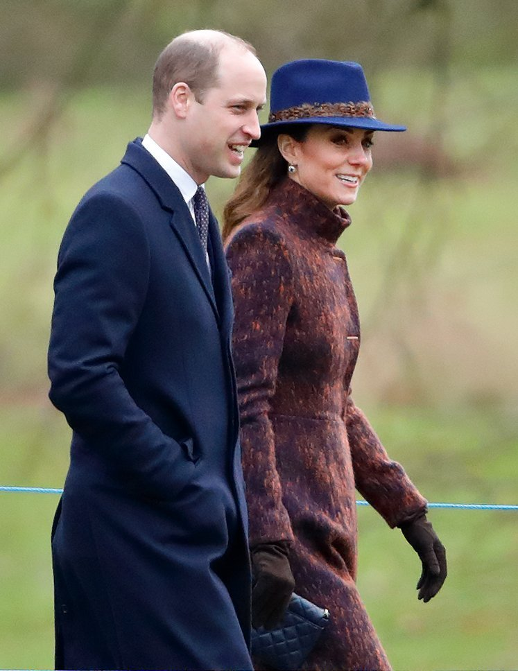 Prince William and Kate Middleton attend Sunday service at the Church of St Mary Magdalene on the Sandringham estate on January 5, 2020, in King's Lynn, England. | Photo : Getty Images.