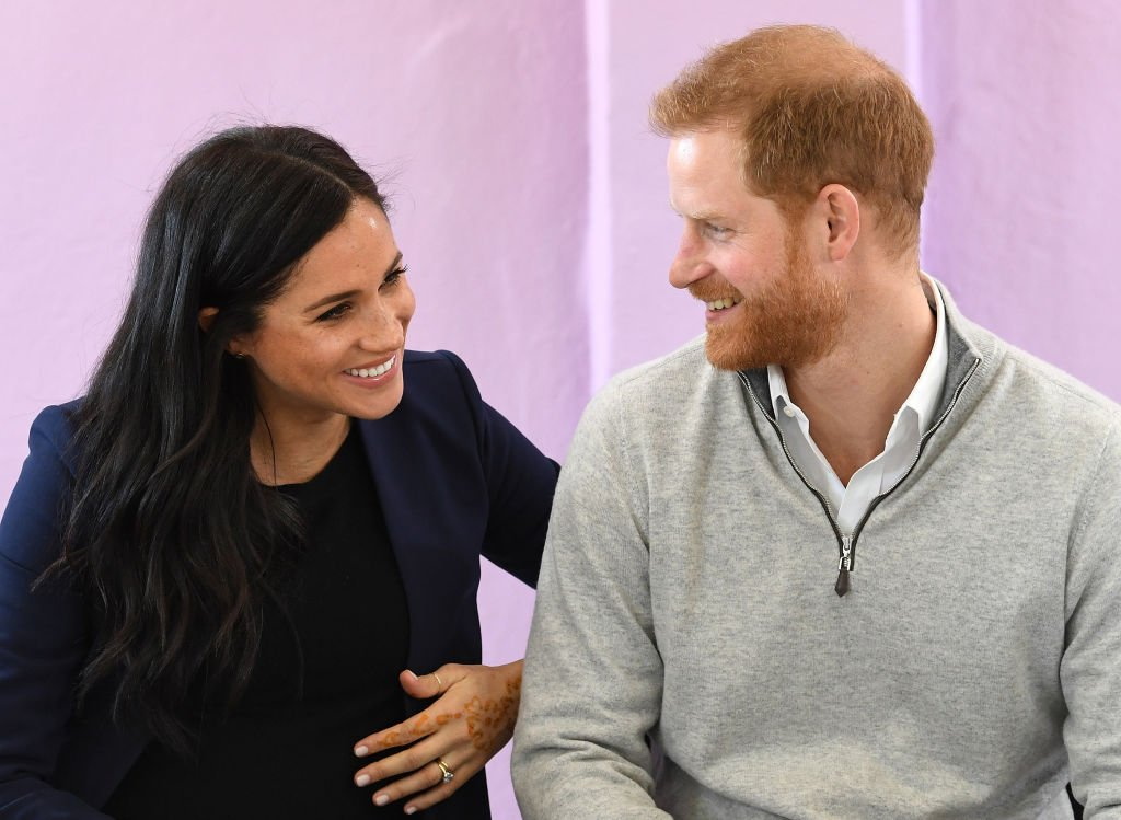 Meghan Markle, Duchess of Sussex, and Prince Harry, Duke of Sussex, visit a local secondary school meeting students and teachers on February 24, 2019 in Asni, Morocco   Photo: Getty Images