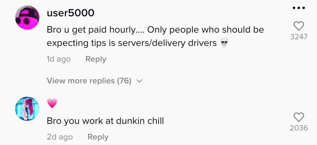 Netizens react to employee who puts in less effort when making drinks for non-tipping customers   Photo: TikTok/jasonmora2