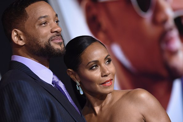 """Will Smith and Jada Pinkett during the premiere of the movie """"Focus"""" 