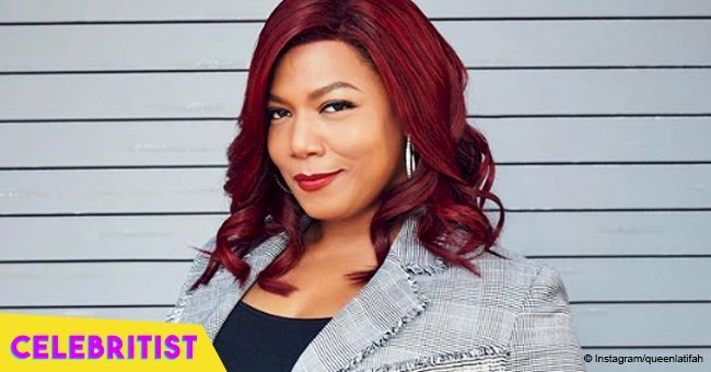 Queen Latifah flaunts her new hair color, posing next to Brandy & Patti Labelle in recent photo
