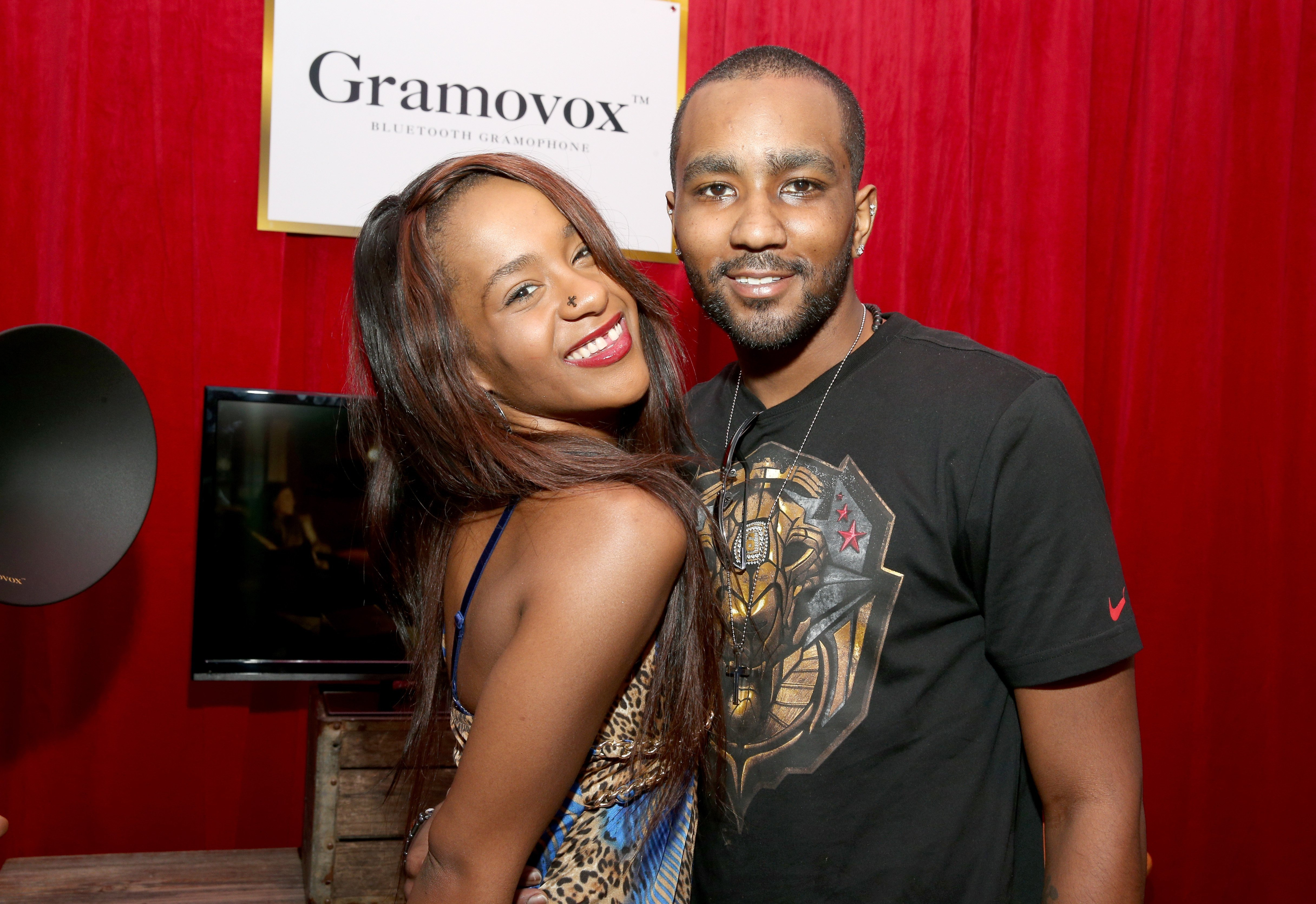 Bobbi Kristina Brown and Nick Gordon attends the GRAMMY Gift Lounge during the 56th Grammy Awards at Staples Center on January 25, 2014 | Photo: GettyImages
