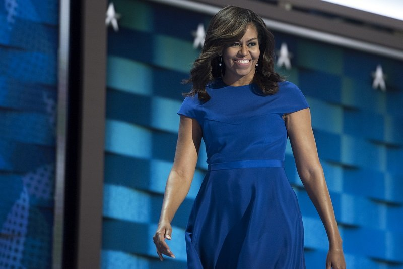 Michelle Obama on July 25, 2016, at the Wells Fargo Center in Philadelphia | Photo: Getty Images