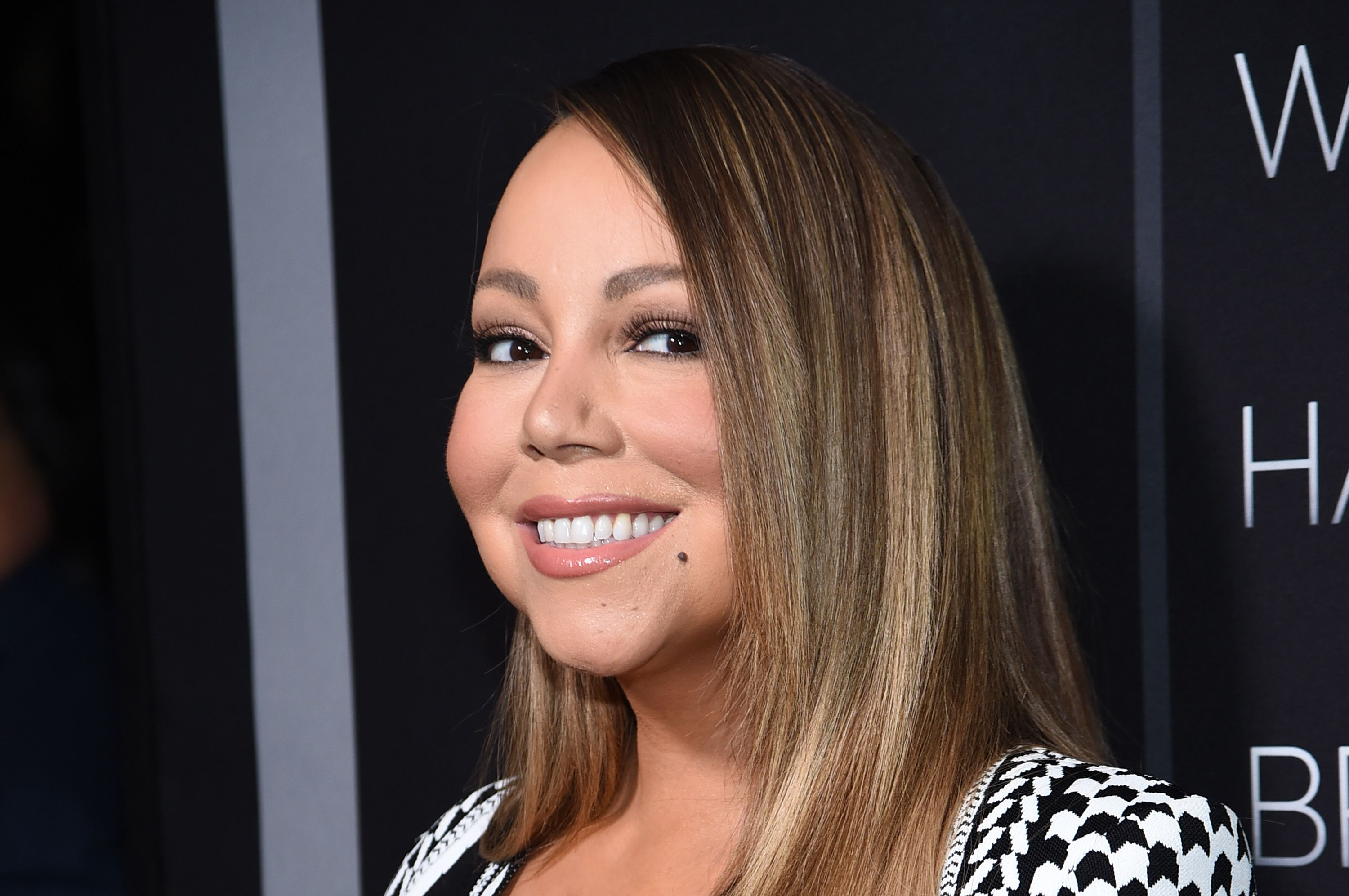 """Mariah Carey at the premiere of Tyler Perry's """"A Fall From Grace"""" at Metrograph on January 13, 2020 in New York City. 
