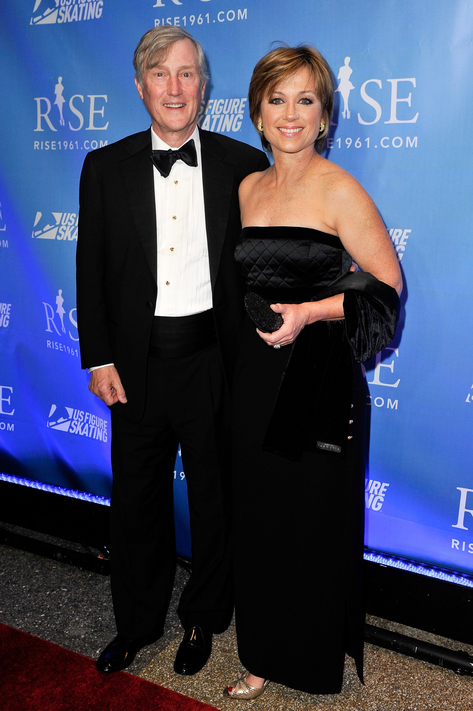 "Dorothy Hamill and husband John McColl at the New York premiere of ""RISE"" in New York in 2011 