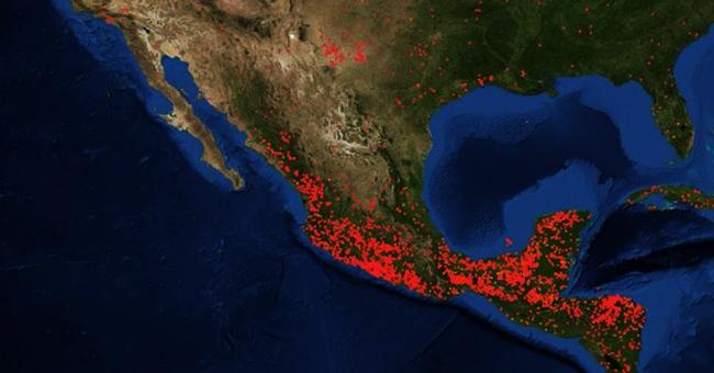 Satélite de la NASA muestra la devastación de los incendios forestales en México