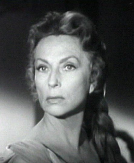 "Agnes Moorehead in ""The Bat"" in 1959. 