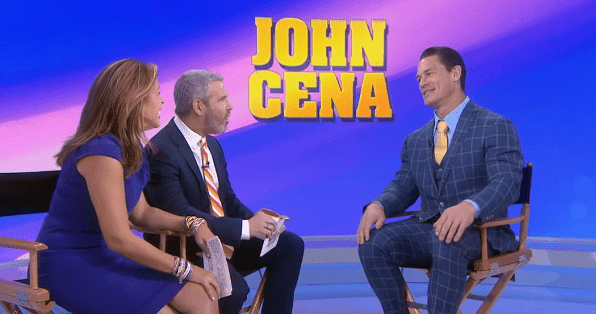 "Co-hosts Hoda Kobt and Andy Cohen talk to John Cena about his upcoming film ""Playing With Fire."" 