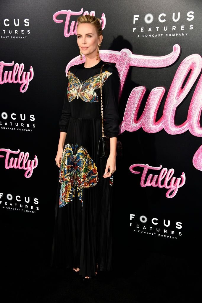 "Charlize Theron attends the Premiere Of Focus Features' ""Tully"" at Regal LA Live Stadium 14 