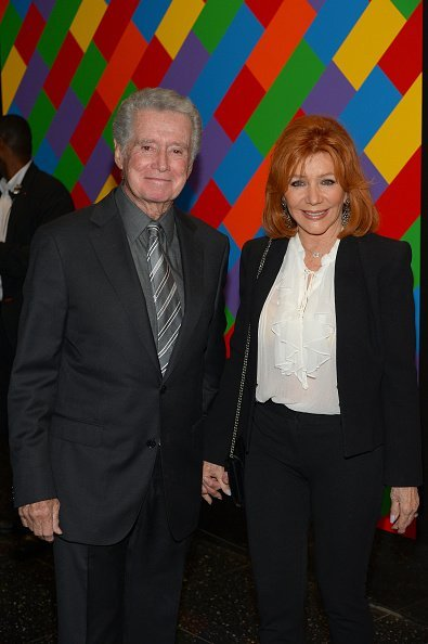 "Regis Philbin and Joy Philbin attend ""Sicario"" New York Premiere at Museum of Modern Art on September 14, 2015, in New York City. 