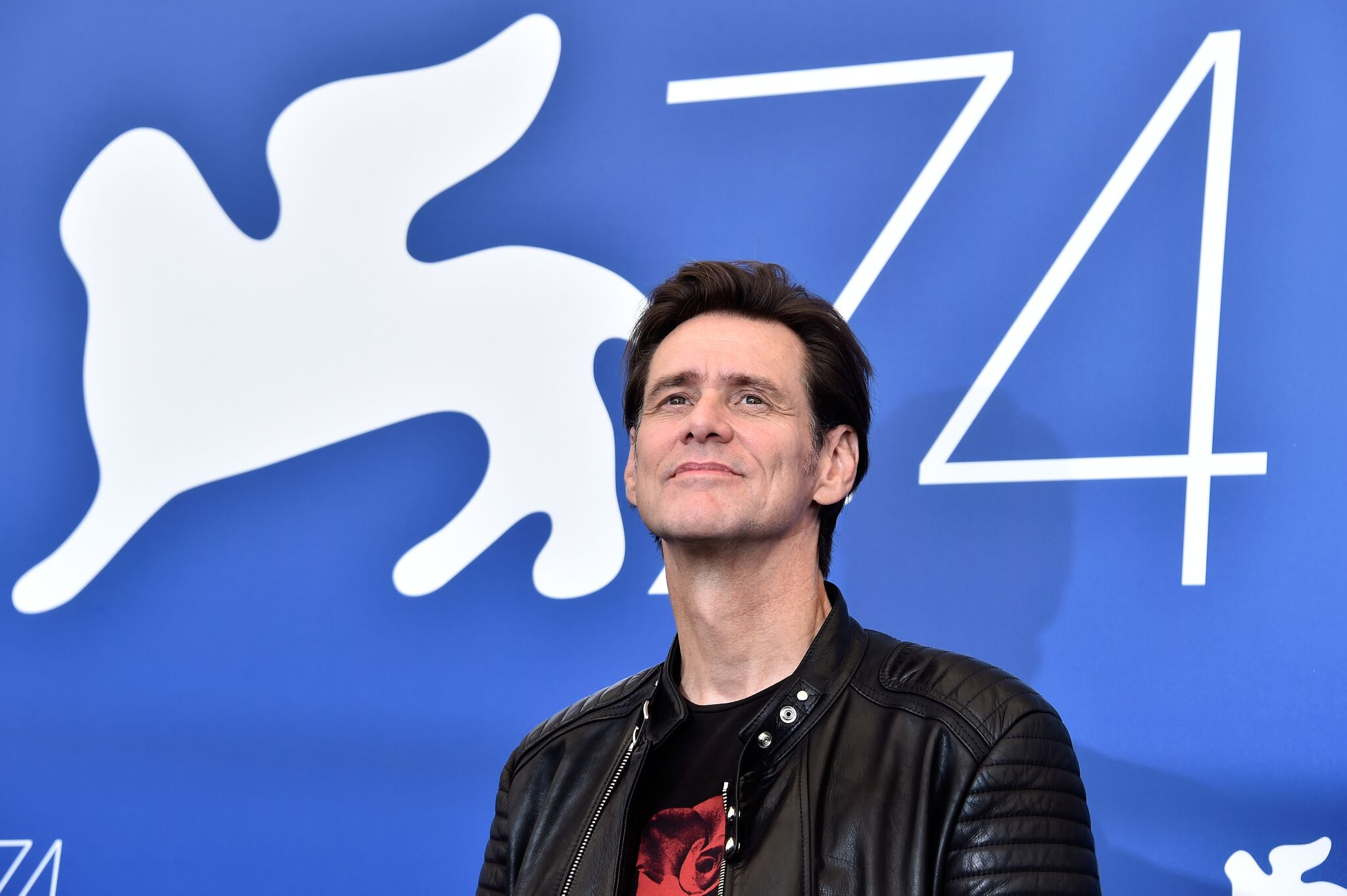 "Jim Carrey attends the ""Jim & Andy: The Great Beyond - The Story Of Jim Carrey & Andy Kaufman With A Very Special, Contractually Obligated Mention Of Tony Clifton"" photocall  