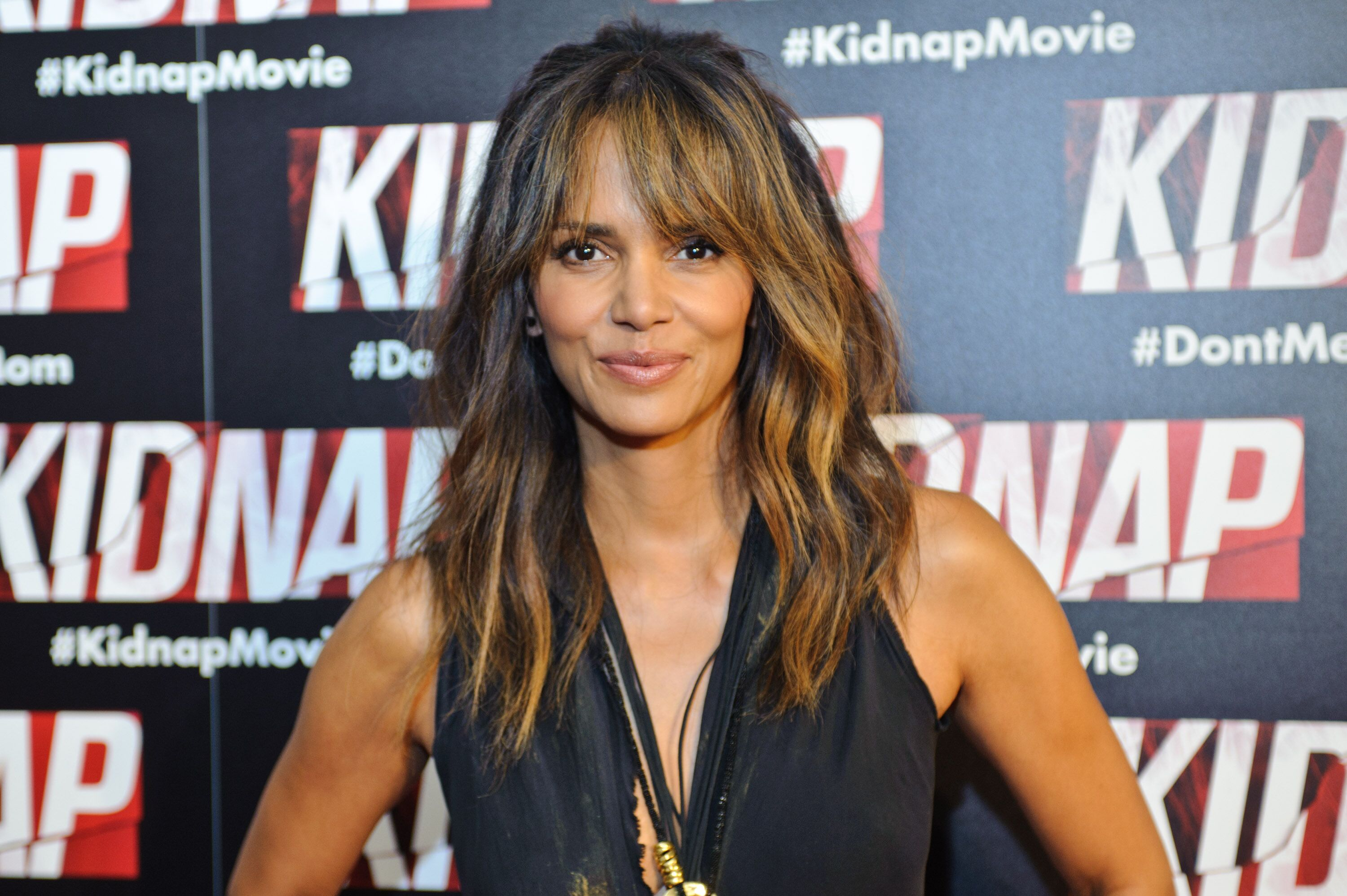 "Halle Berry attends the Chicago premiere of ""Kidnap"" at Kerasotes Showplace ICON on July 25, 2017 