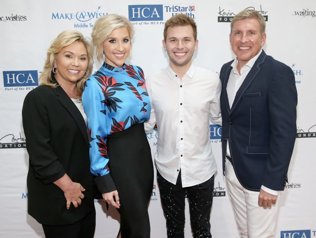 ulie Chrisley, Savannah Chrisley, Chase Chrisley and Todd Chrisley attend the 17th annual Waiting for Wishes celebrity dinner. | Source: Getty Images