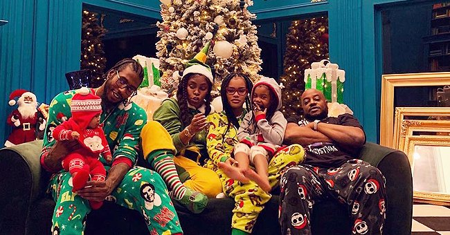 Teyana Taylor Looks Cute in a Heartwarming Photo with Her Family Dressed in Colorful Pajamas