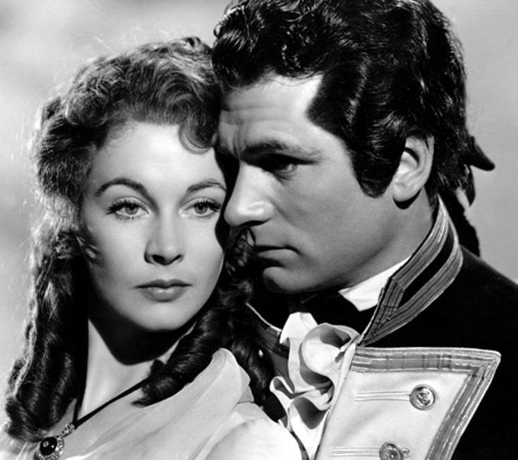 """Vivien Leigh and Laurence Olivier in the 1941 fil """"That Hamilton Woman"""" 