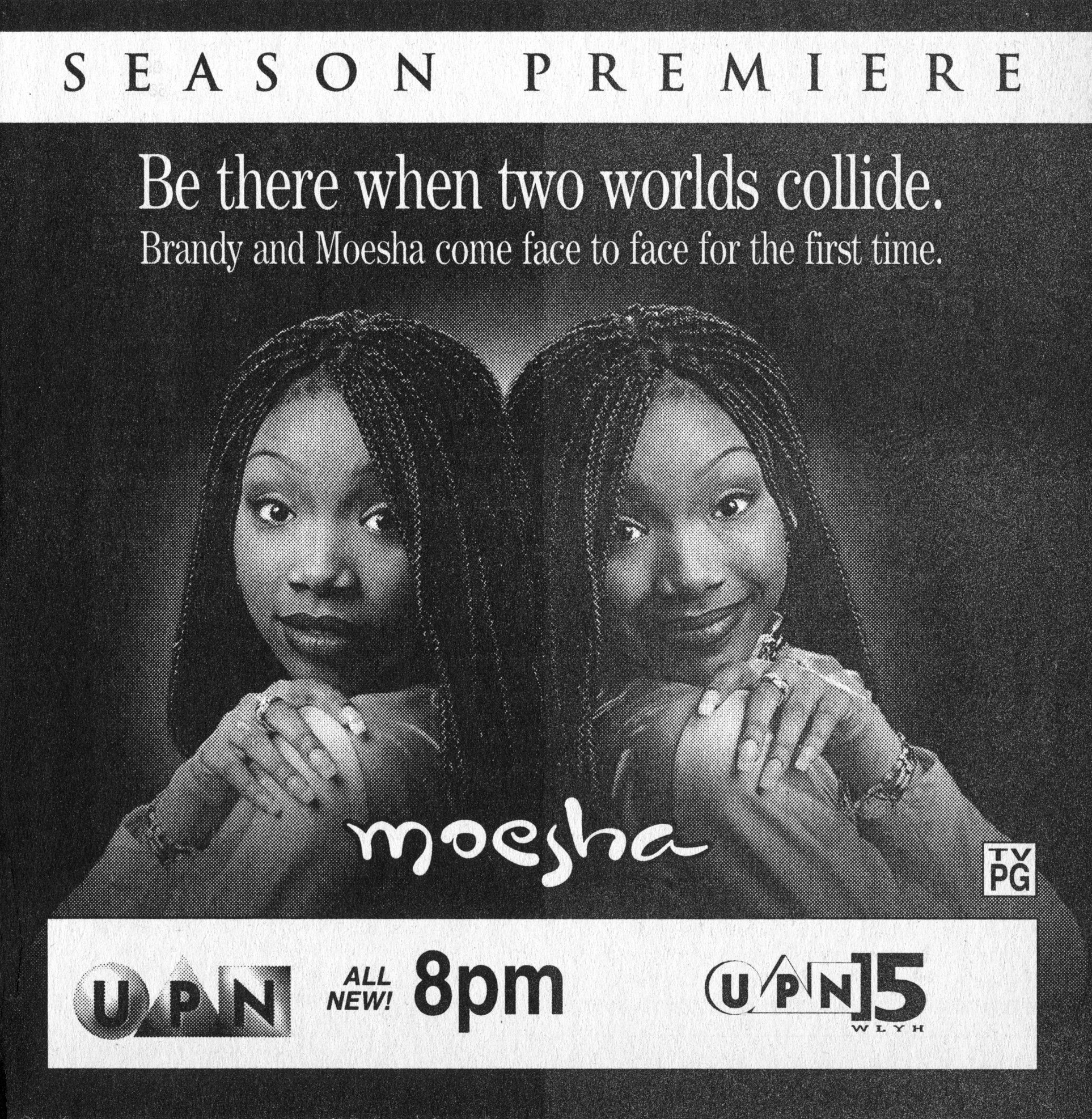 Brandy Norwood in UPN Television advertisement as appeared on October 3, 1998 | Photo: Getty Images
