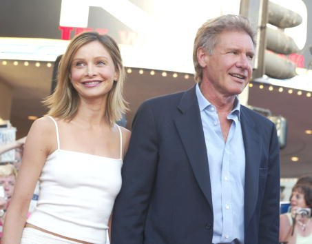 Harrison Ford and Calista Flockhart at the Village Theatre in Westwood, Ca. Monday, July 15, 2002 | Photo: Getty Images