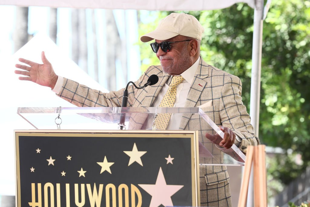 Berry Gordy supporting Jackie Wilson who was honored with a star at The Hollywood Walk of Fame in September 2019.   Photo: Getty Images