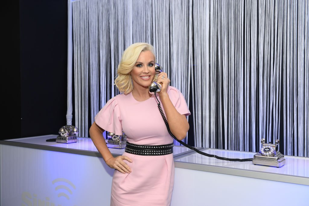 "SiriusXM Host Jenny McCarthy attends SiriusXM's ""Dial Up The Moment"" campaign launch at Penn Plaza Pavilion 