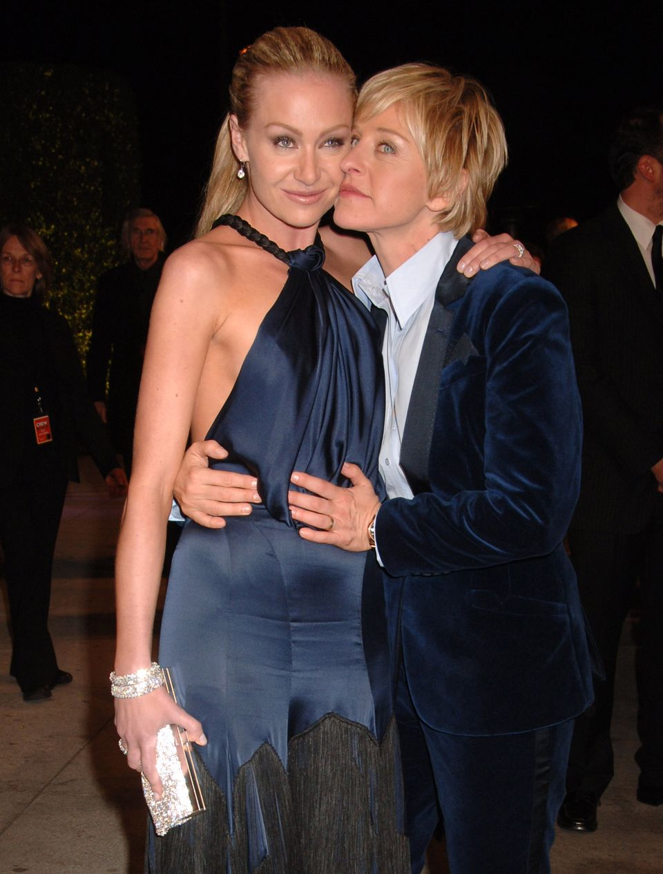 Portia de Rossi and Ellen DeGeneres at the Mortons in West Hollywood, California   Photo: Getty Images