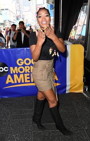 Actress Keke Palmer at Times Square in New York City | Photo: Getty Images