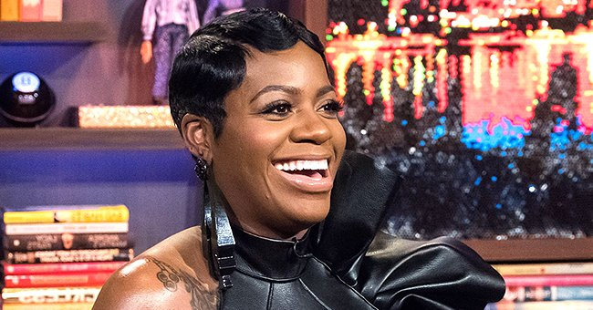 Fantasia Barrino Stuns in Black and Orange Maxi Dress With Deep Neck in a Video With Husband