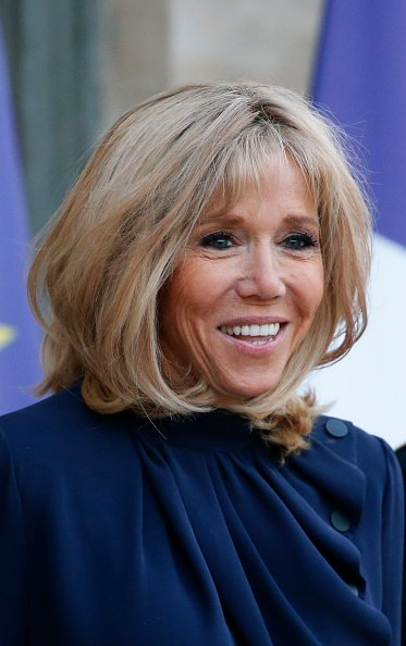 Brigitte Macron, à une réunion au Palais présidentiel de l'Elysée le 29 mars 2019 à Paris | Photo : Getty Images