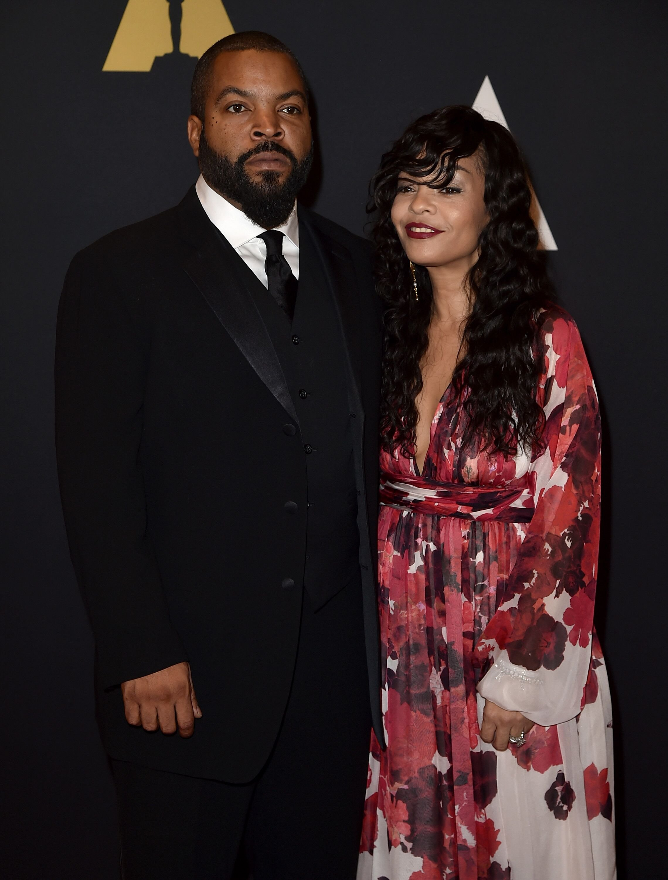 Ice Cube and Kimberly Woodruff at the Academy of Motion Picture Arts and Sciences' 7th annual Governors Awards in 2015 | Source: Getty Images