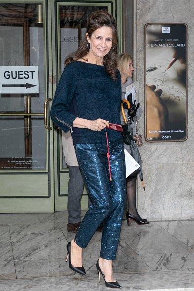 L'actrice Valérie Lemercier assiste au défilé Stéphane Rolland Haute Couture Printemps Eté 2019  le 22 janvier 2019 à Paris, France. | Photo : Getty Images