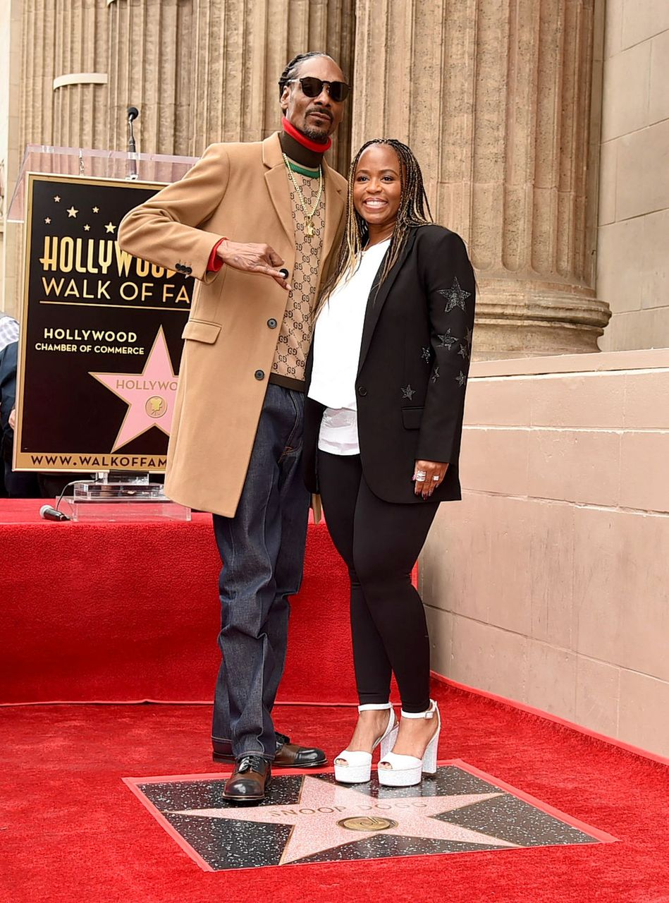 Snoop Dogg and Shante Broadus during the ceremony honoring Snoop Dogg with a star on the Hollywood Walk of Fame on November 19, 2018 in Hollywood, California. | Source: Getty Images