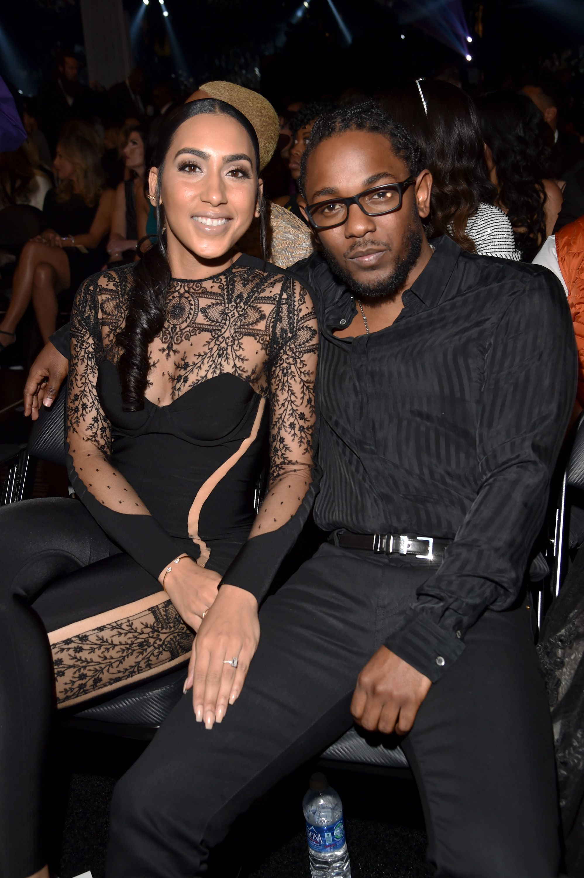 Kendrick Lamar and Whitney Alford attend the 58th Grammy Awards at Staples Center on February 15, 2016 in Los Angeles, California.   Photo: Getty Images